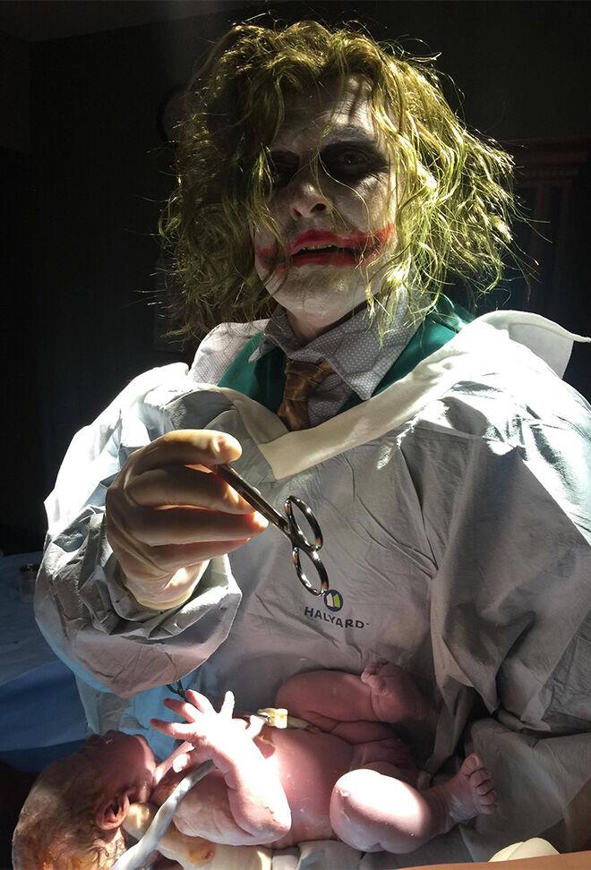 OB dressed as The Joker