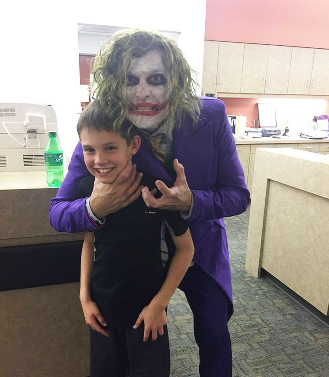 Doctor in Joker costume delivers baby