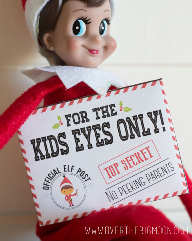 Letter to the kids from Elf on the Shelf