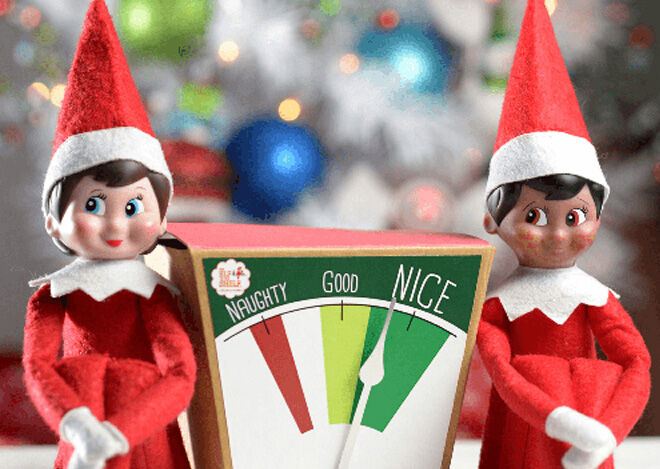 Naught or nice metre printable for Christmas elf