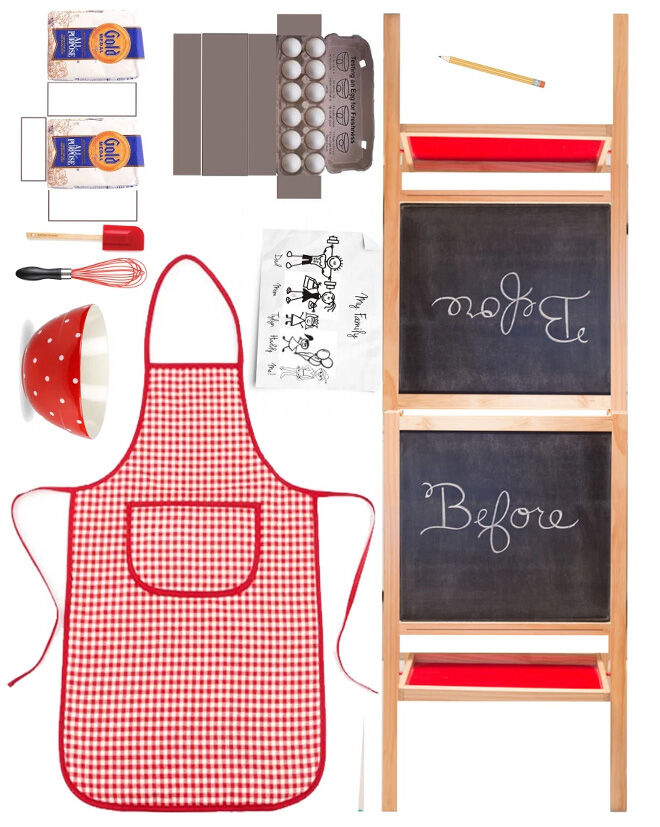 Printable for Elf on the Shelf kitchen