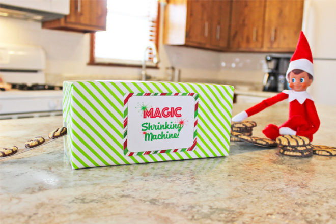 Elf magic shrinking machine printable