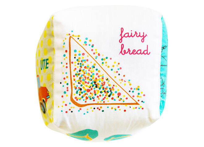 Fairy bread baby cube rattle