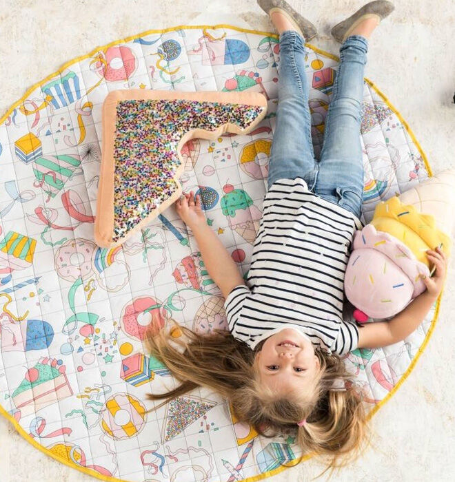 Giant fairy bread cushion toy for kids