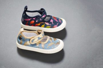 Feather Mary Janes Walnut Melbourne Canvas kids shoes