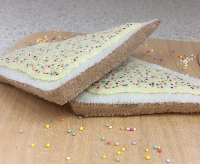 Pretend food felt fairy bread