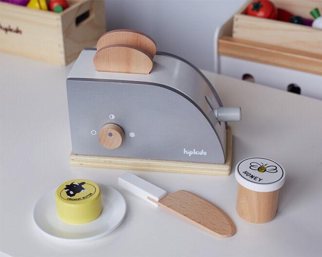 Hip Kids pretend play kitchen essentials toaster set