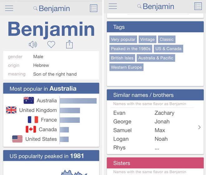 Nametrix app to help pick a baby name