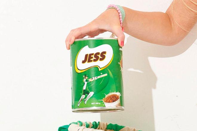 Personalised Food Labels Milo Tim Tams Nutella Vegemite