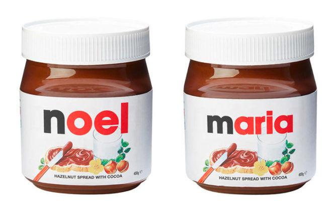 Personalied Nutella jar Kmart