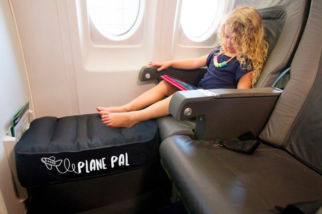 Plane Pal inflatable device for flying with kids