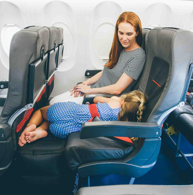 Device to help kids sleep on flights Plane Pal