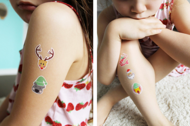 temporary aussie tattoos for christmas