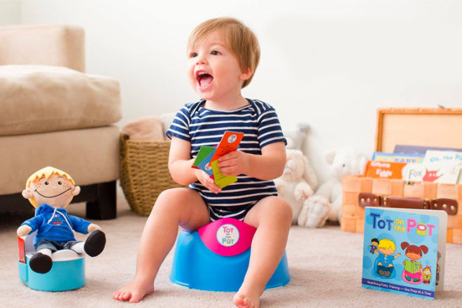 Easy Toilet training for toddlers with Tot on the Pot