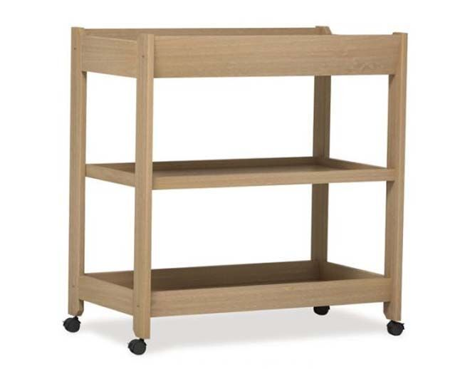 Boori change table with shelves