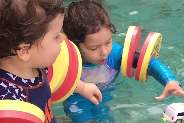 Finband floatation aid for kids