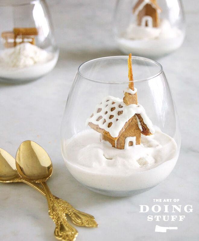 Gingerbread house icecream