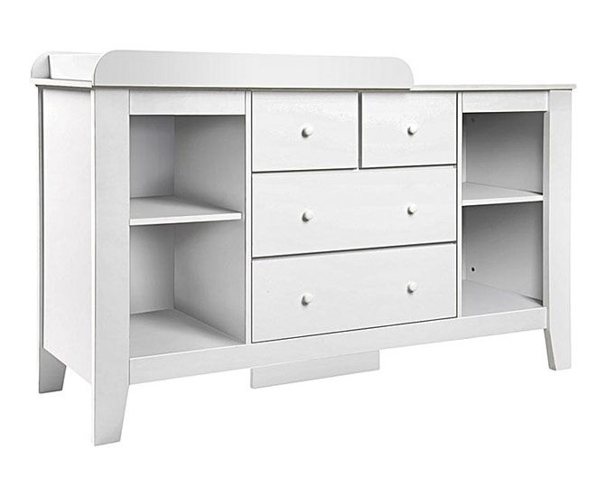 Zanui Harper White Change Table with storage