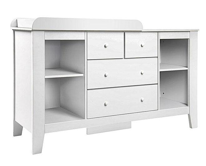 Zanui Harper White Change Table with storage