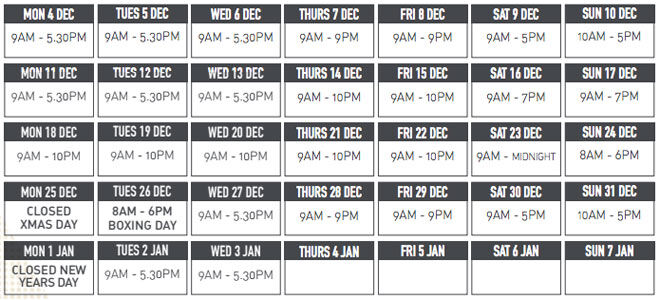Northland Shopping Centre opening hours