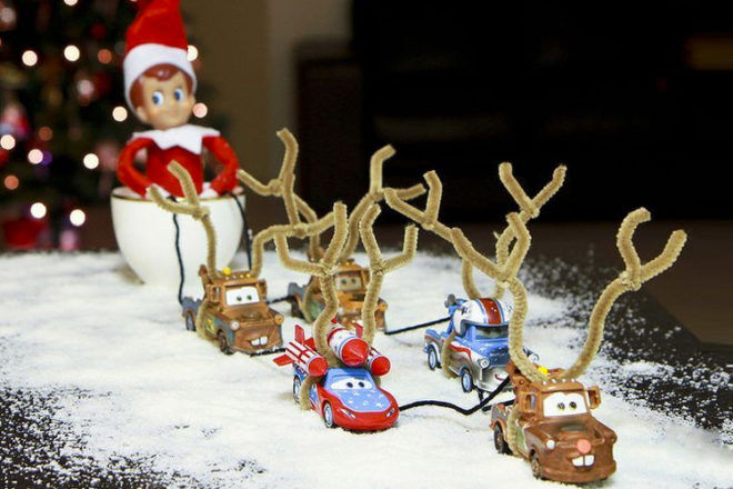 Goodbye Elf on the Shelf driving cars