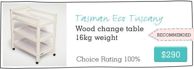 Tasman Eco Tuscan safe baby change table
