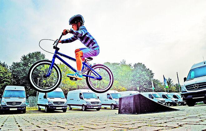 Child bike ride