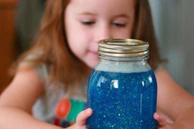Calm down jar for kids