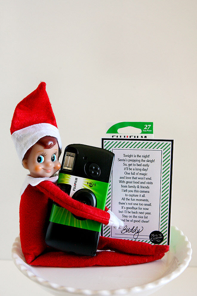 Elf on the Shelf camera parting present