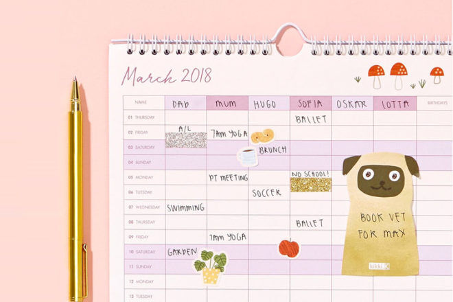 picture regarding Family Planner Calendar known as 8 relatives planners for becoming organised inside of 2018 Mums