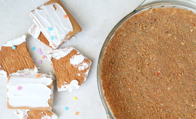 Leftover gingerbread house pie crust
