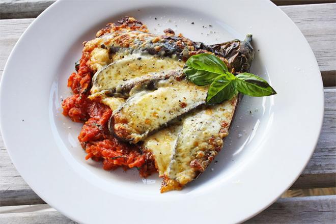 Labour inducing Eggplant Parmigiana
