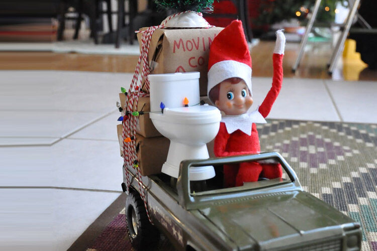 Moving elf on the shelf