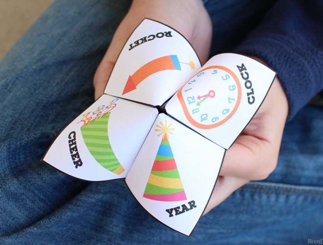 New Year's Eve fortune teller for kids