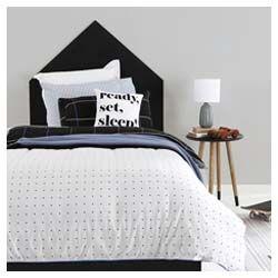 Pillow Talk dots quilt cover