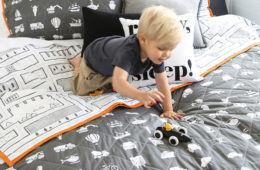 Pillow Talk Toot Toot Coverlet