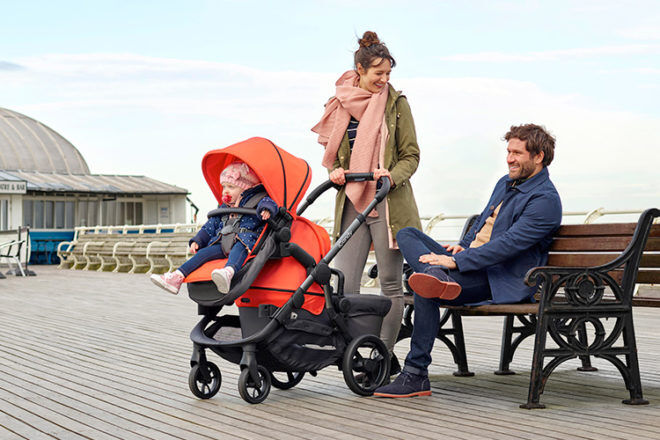 iCandy orange stroller