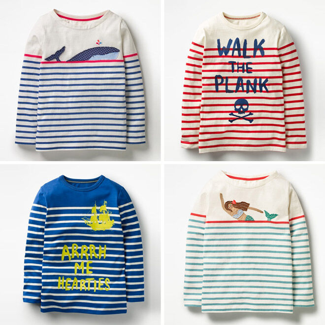 Mini Boden pirates striped tees