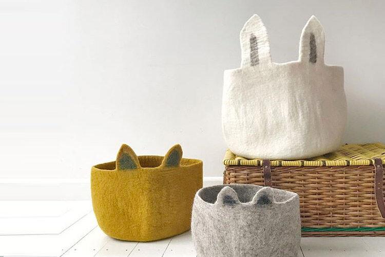 Muskhane Kids Felt Storage Basket