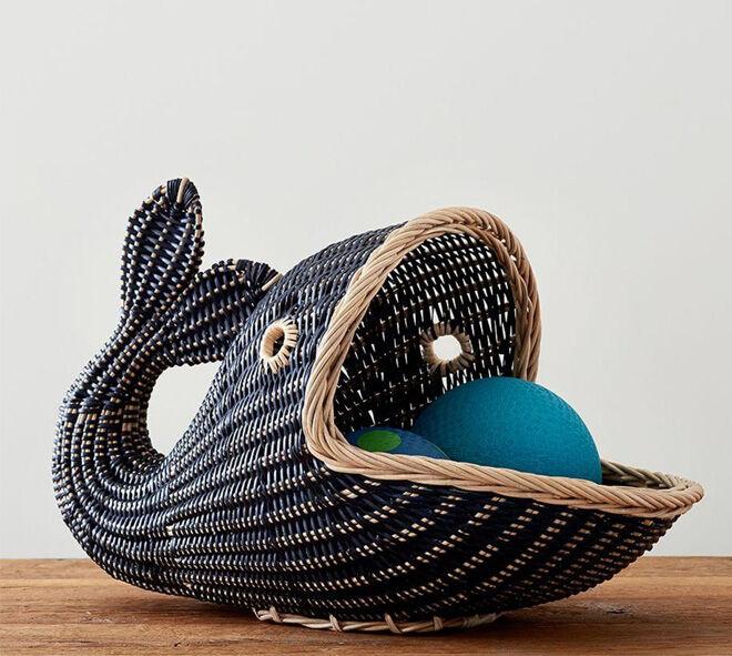 Pottery Barn Whale Basket
