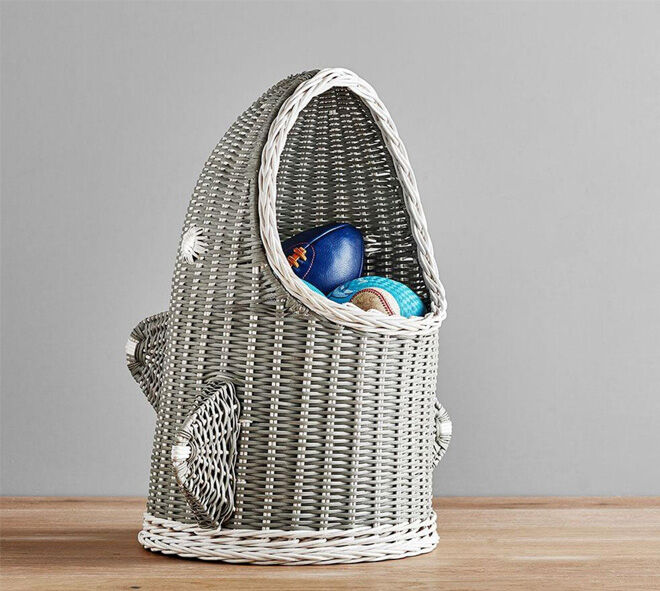 Pottery Barn Shark Basket storage