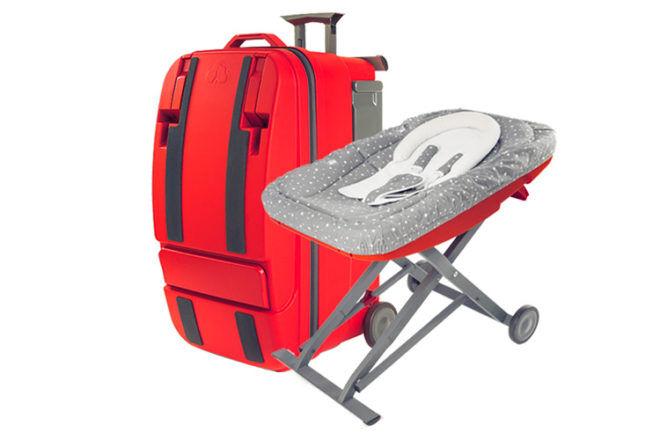 la multi suitcase bassinet chair rocker