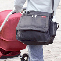 Messenger nappy bag style