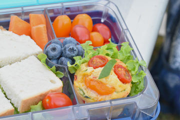 Lunchbox muffins in bento box