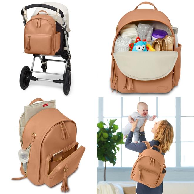 Skip Hop Greenwich Backpack nappy bag caramel