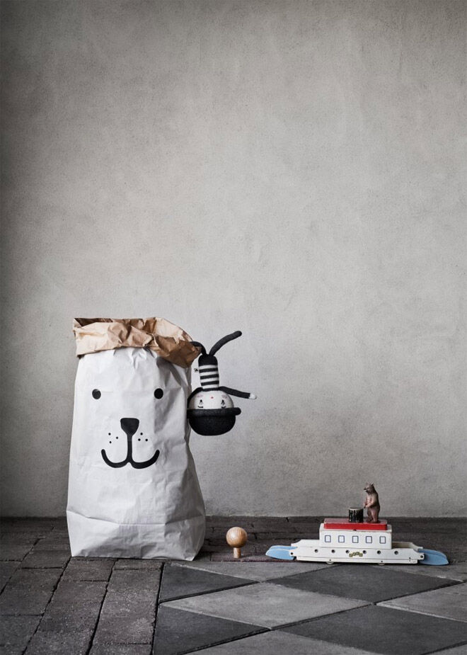 Tellkiddo bear paper storage bag