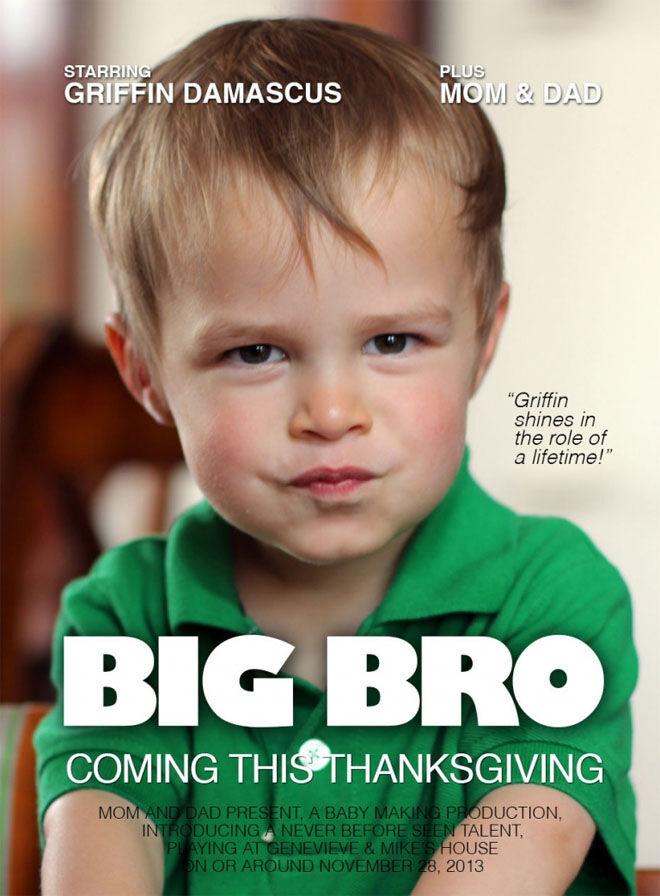 Big Bro movie poster pregnancy announcement