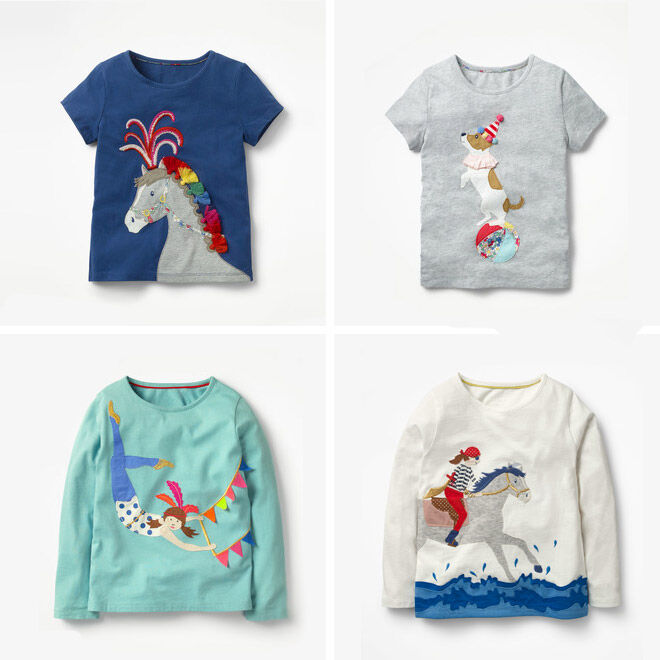Mini Boden Circus Collection Tops