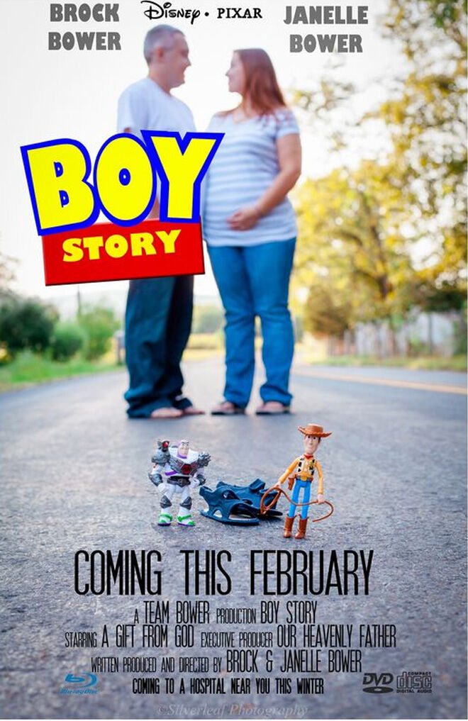 Boy Story movie pregnancy announcement