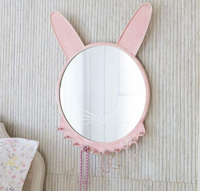 Ceramic Bunny Mirror
